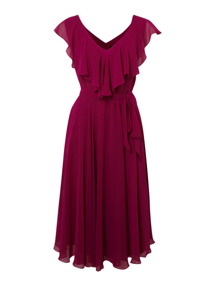 Linea-V-Neck-Chiffon-Dress-In-Sorbet