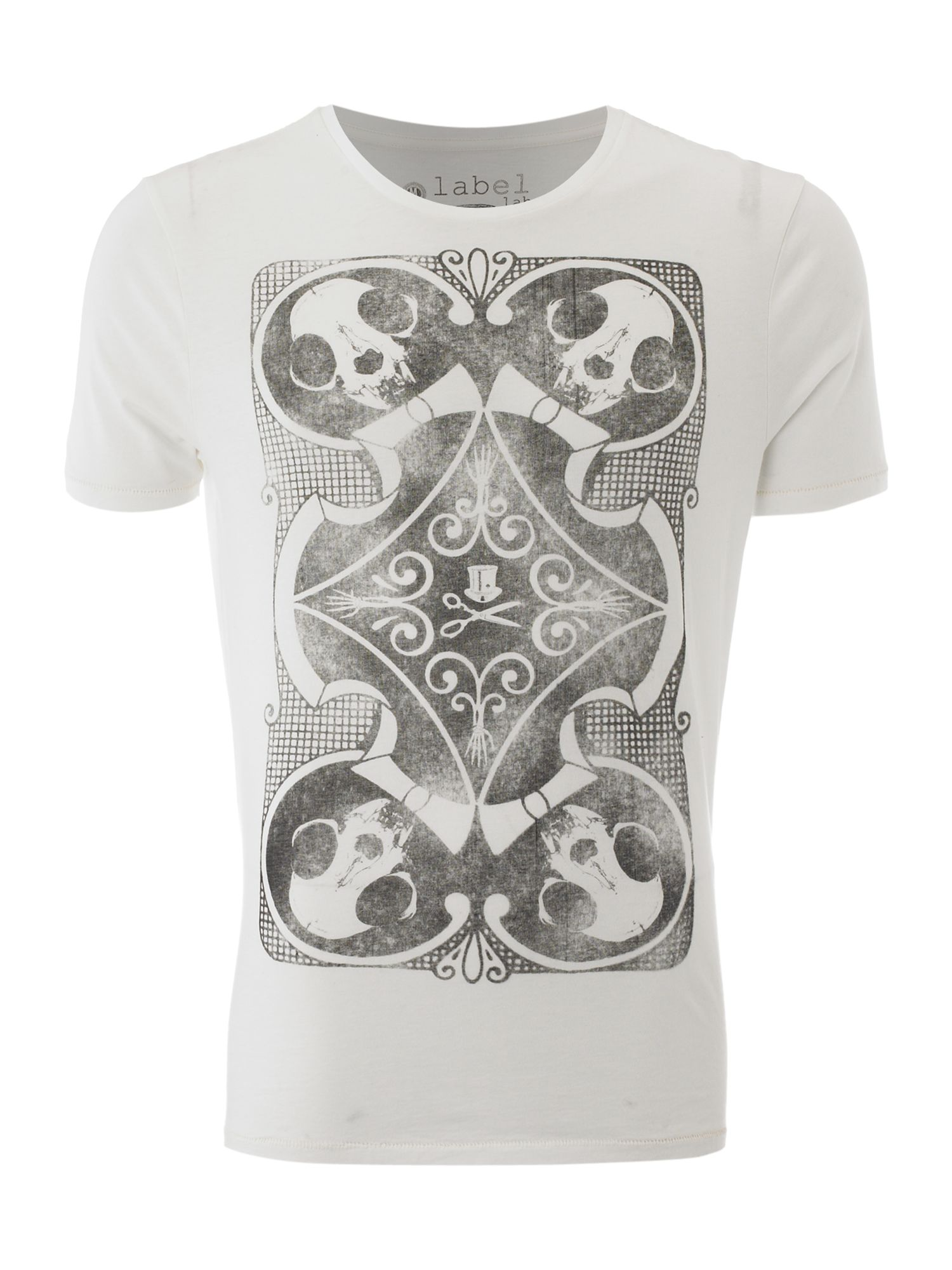 Label Lab Skull card graphic T-shirt - Off White product image