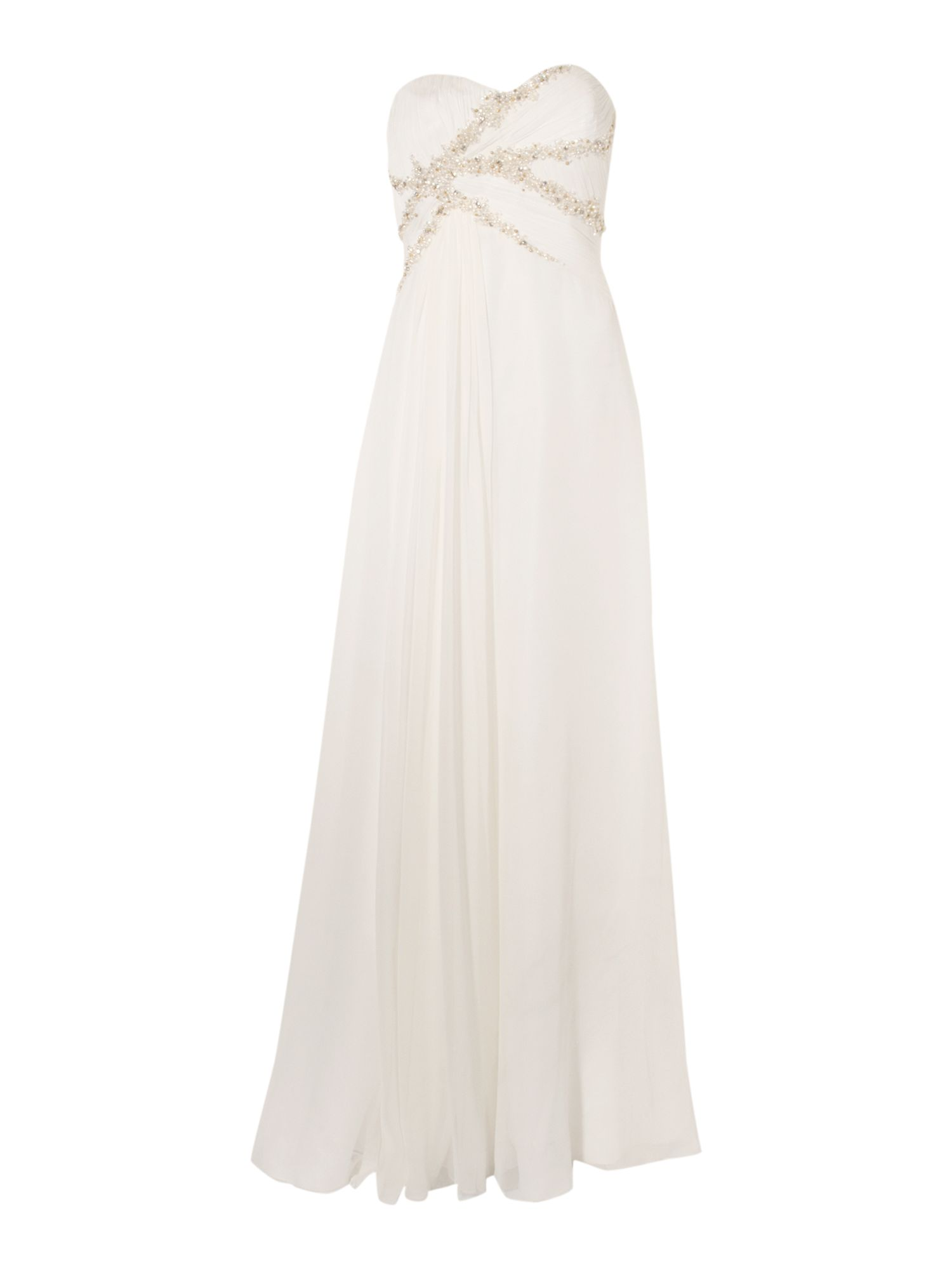 Stacey chiffon pearl beading dress