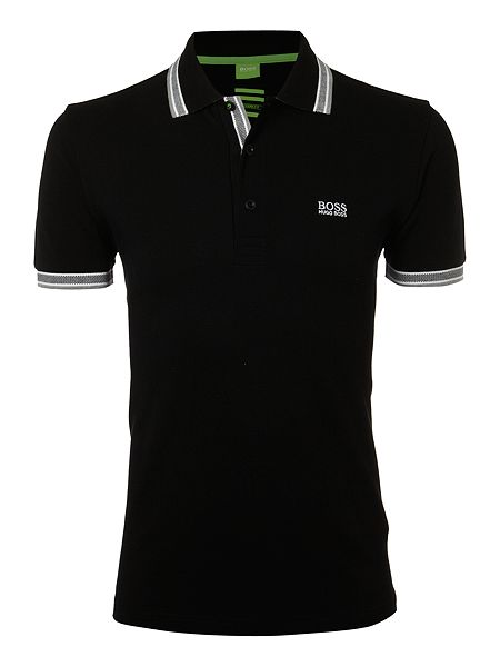 hugo boss classic logo tipped detail polo shirt black house of. Black Bedroom Furniture Sets. Home Design Ideas