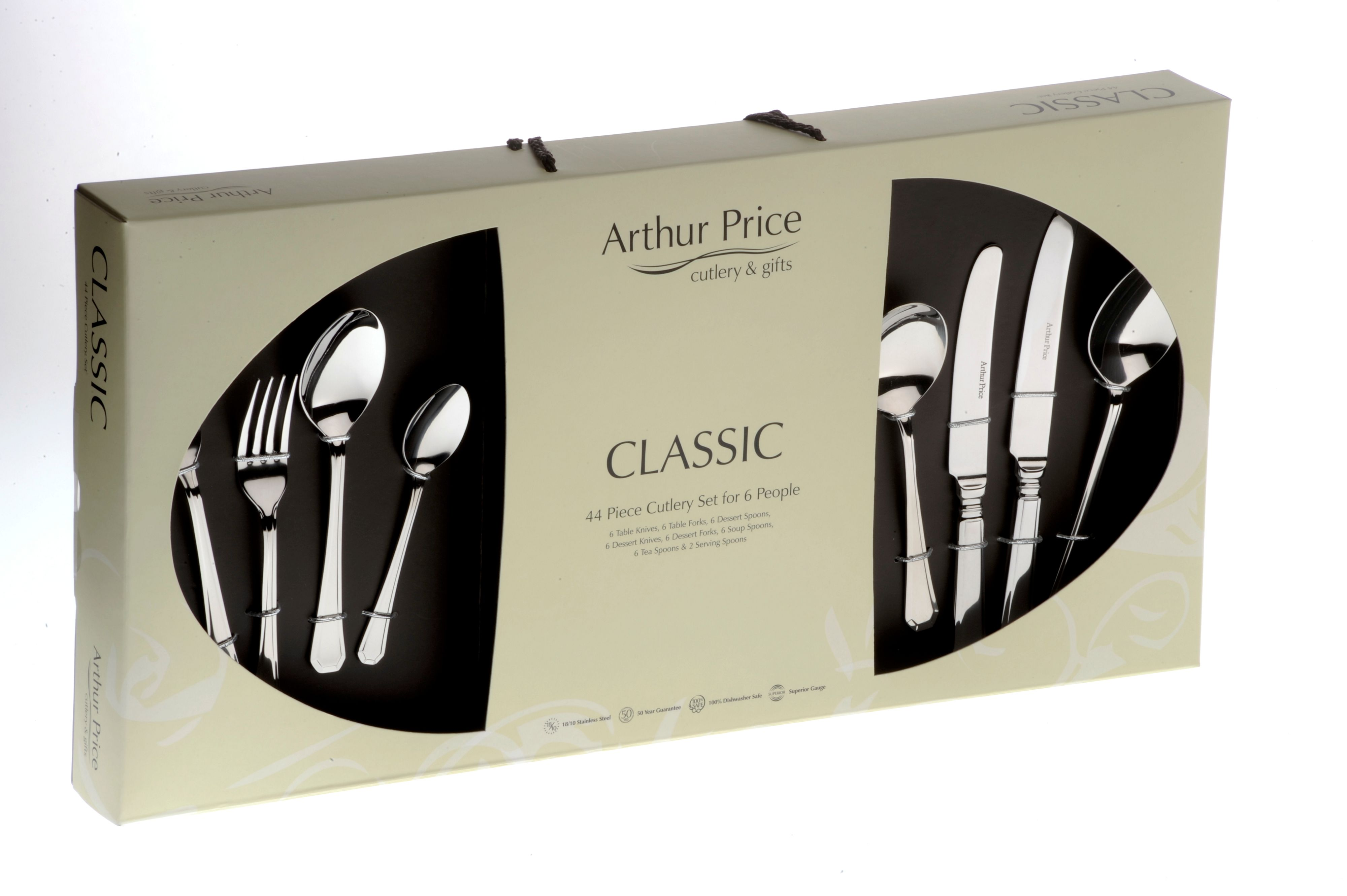 Grecian 44 piece cutlery box