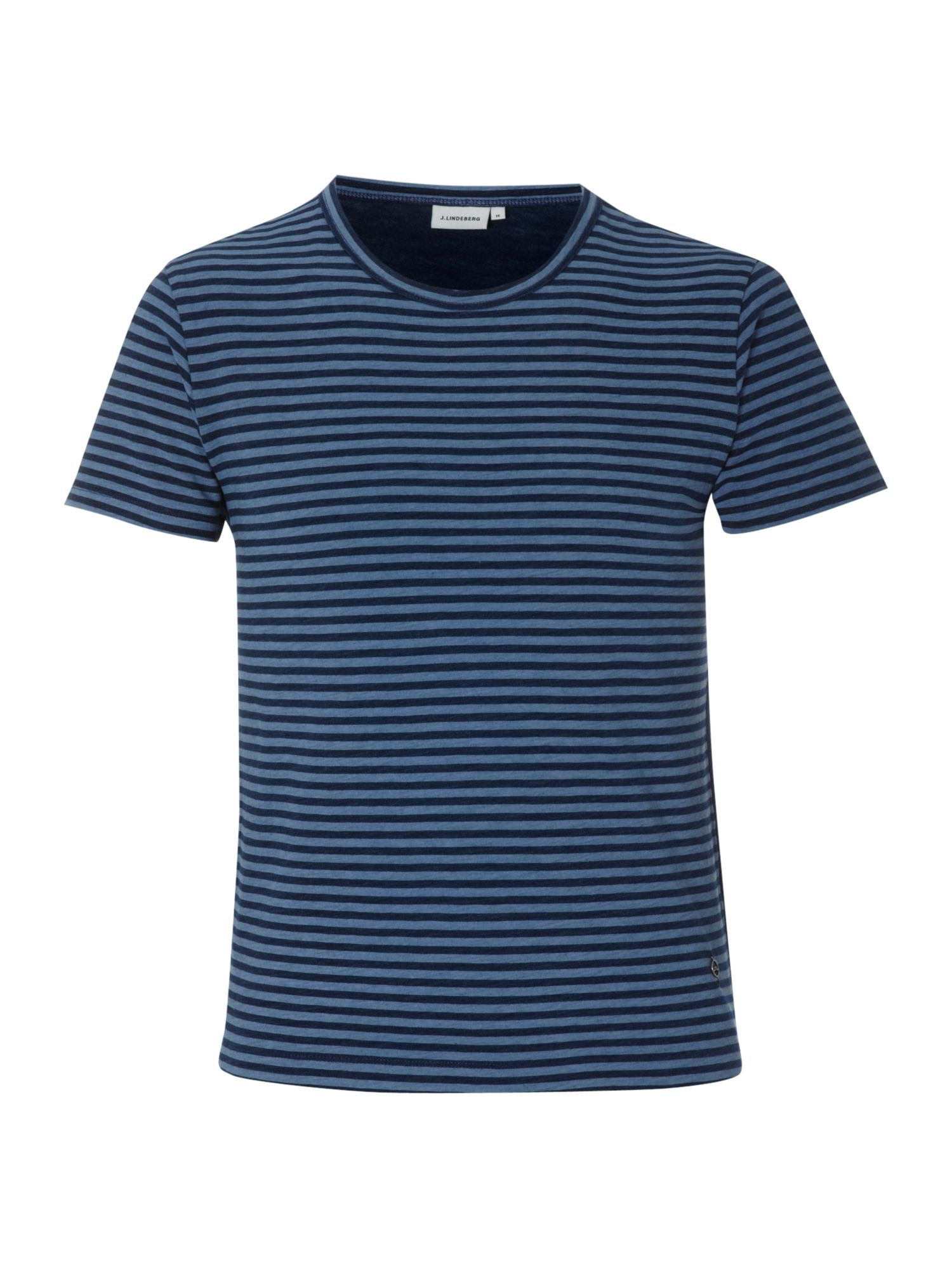 J Lindeberg Mens J Lindeberg Striped T-shirt, Denim product image