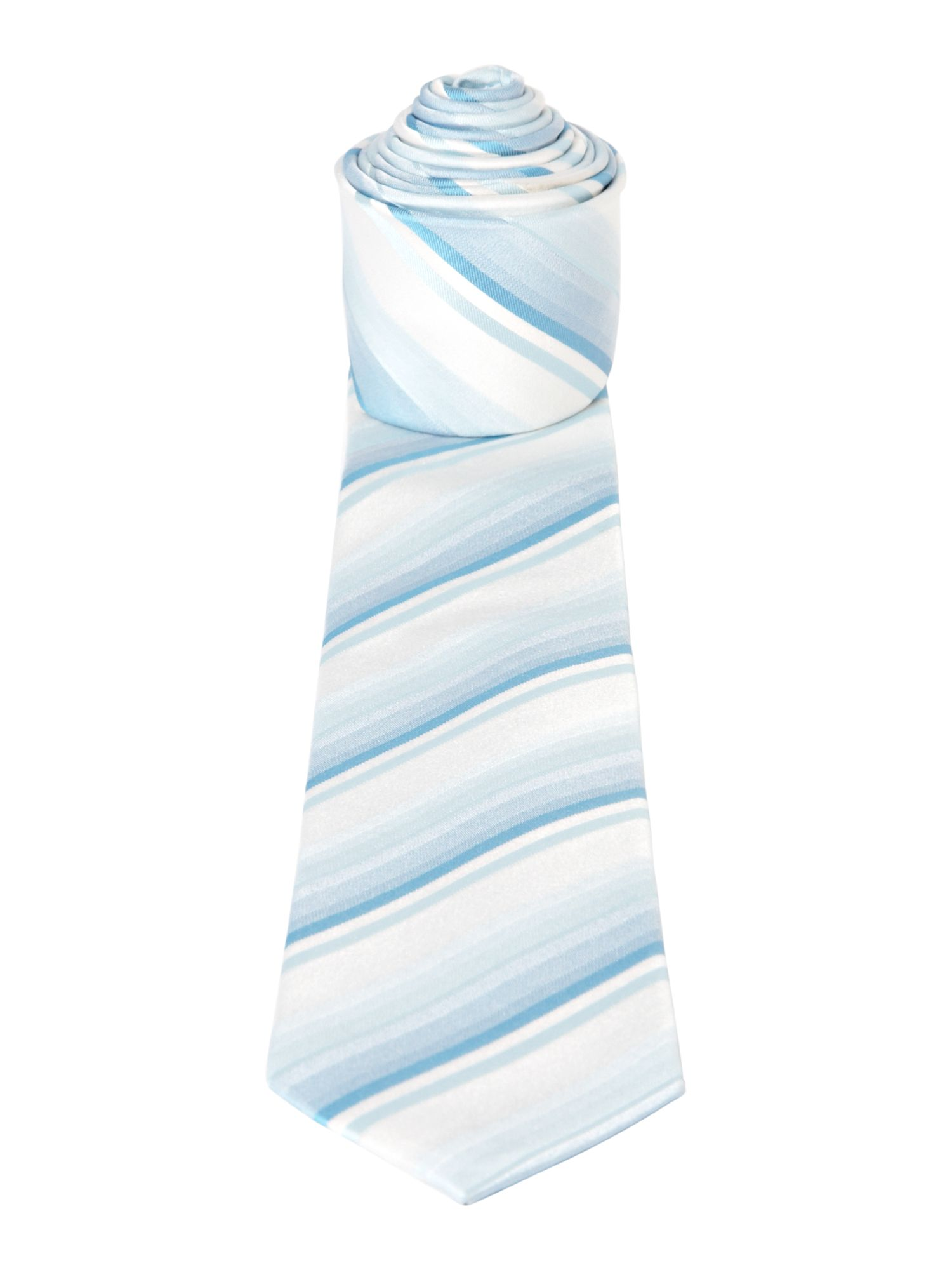 Multistripe formal silk tie