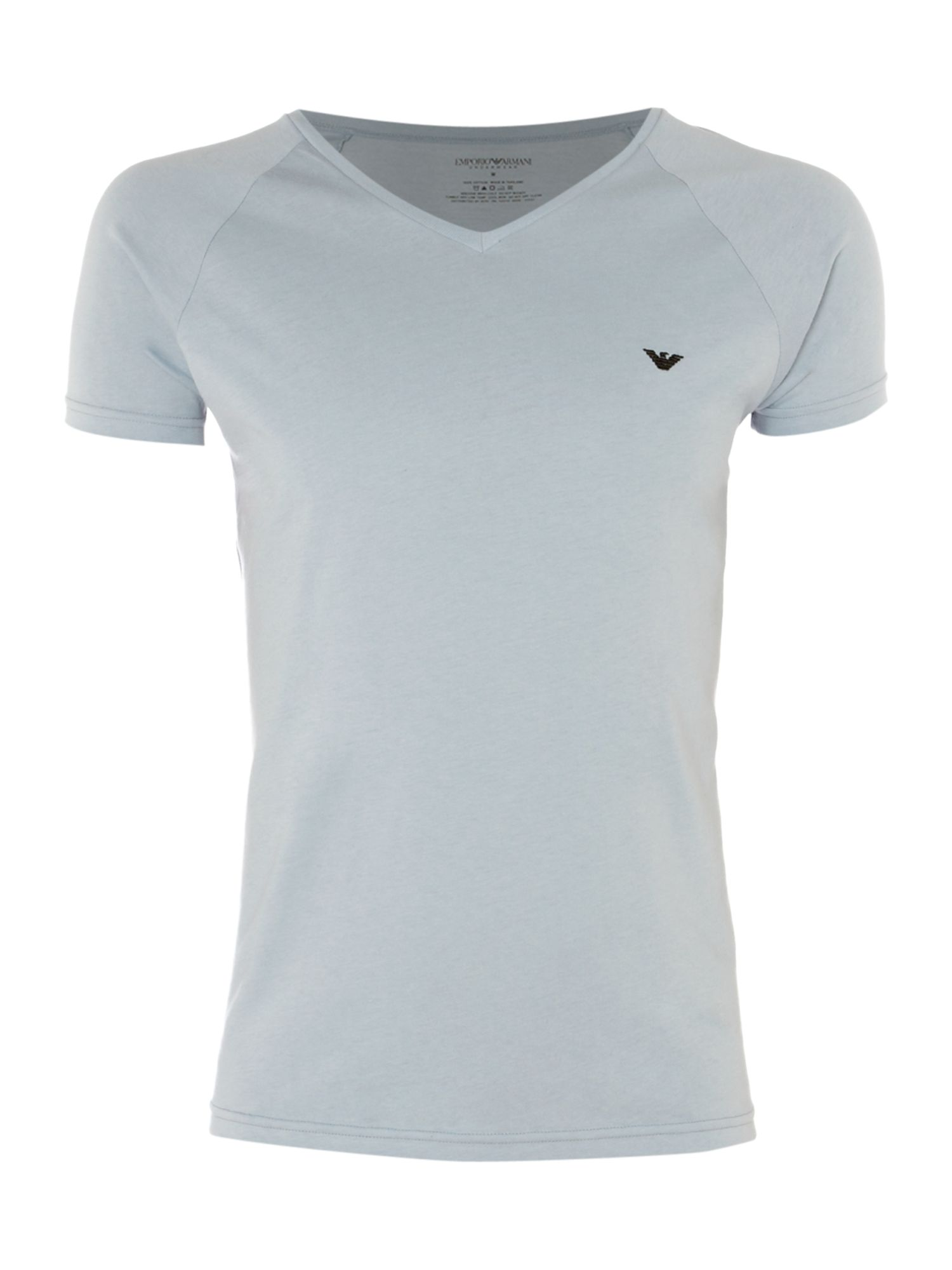 Emporio Armani Lounge T-shirt with logo detail - Blue product image