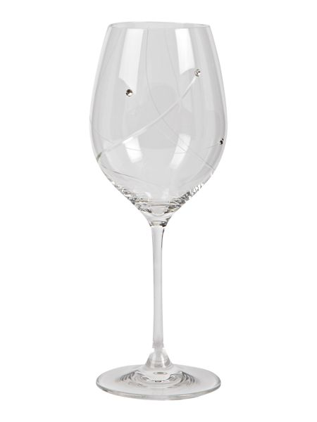Linea 2 red wine glasses made with crystal