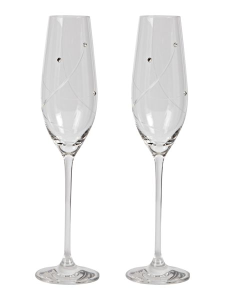 Linea 2 flutes made with crystal
