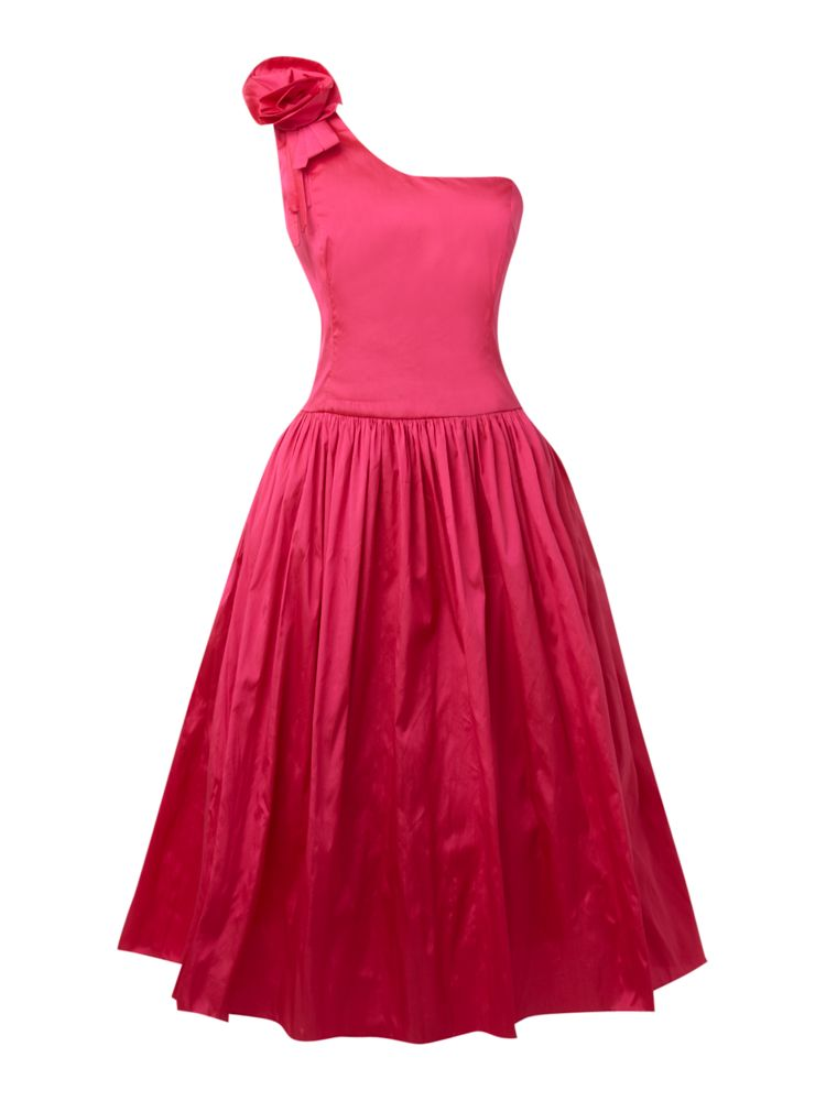 JS-Collections-Flower-Shoulder-Prom-Dress-In-Hot-Pink