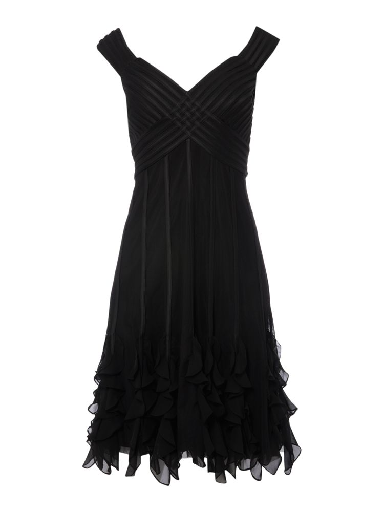 JS-Collections-Ruffle-Hem-Dress-In-Black-From-House-of-Fraser