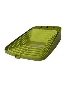 Arena Self Draining Dishrack, Green