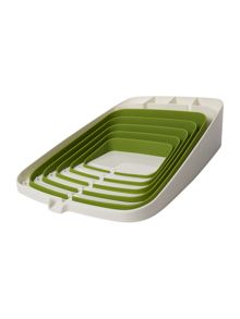 Arena self draining dishrack, white