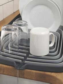 Arena Self Draining Dishrack, Grey