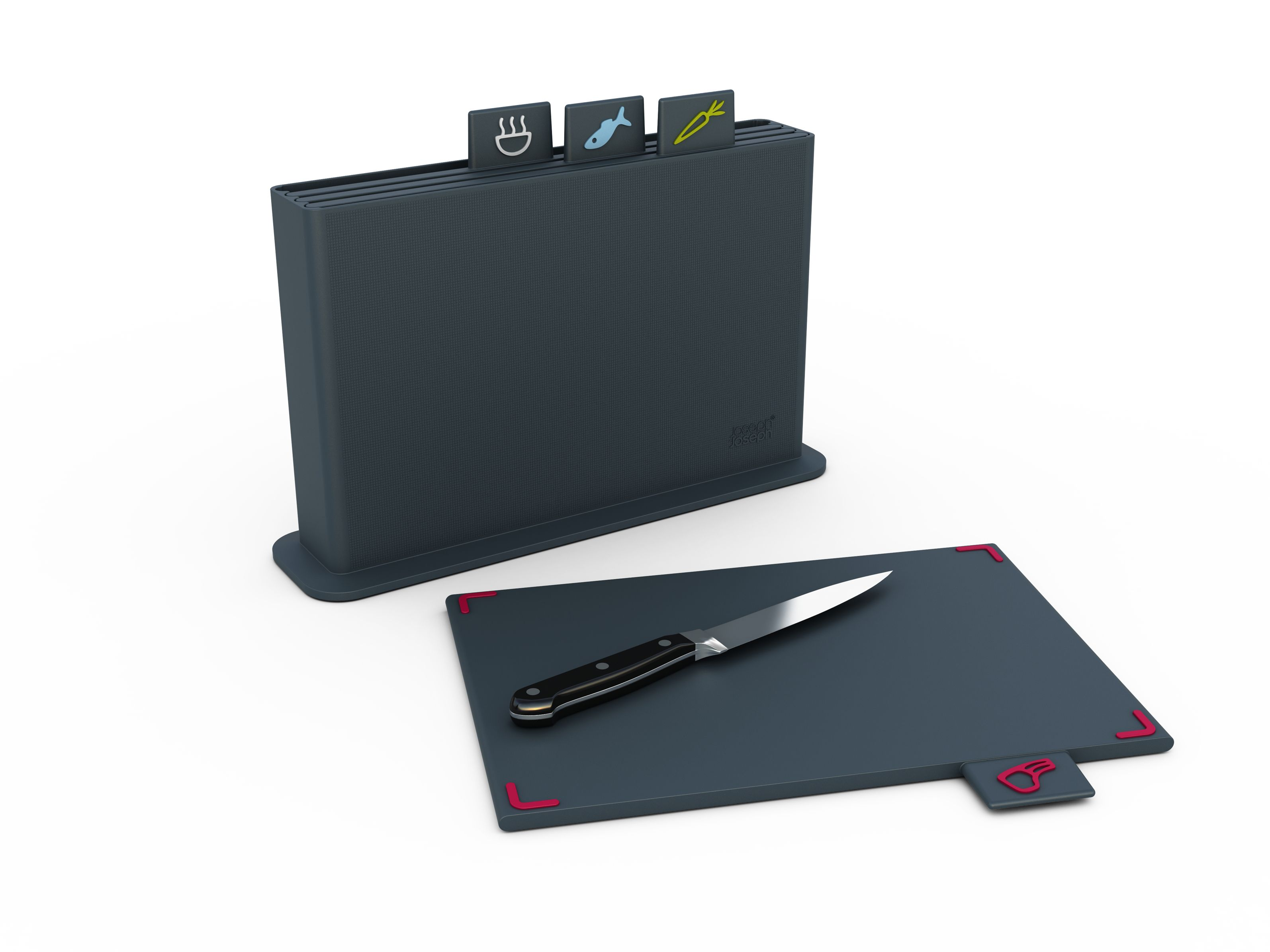 Index advance chopping board, grey