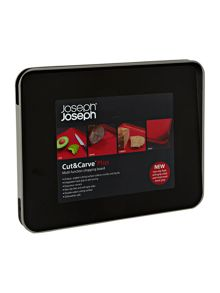 Joseph Joseph Cut and Carve Plus Chopping Board, Large - Black