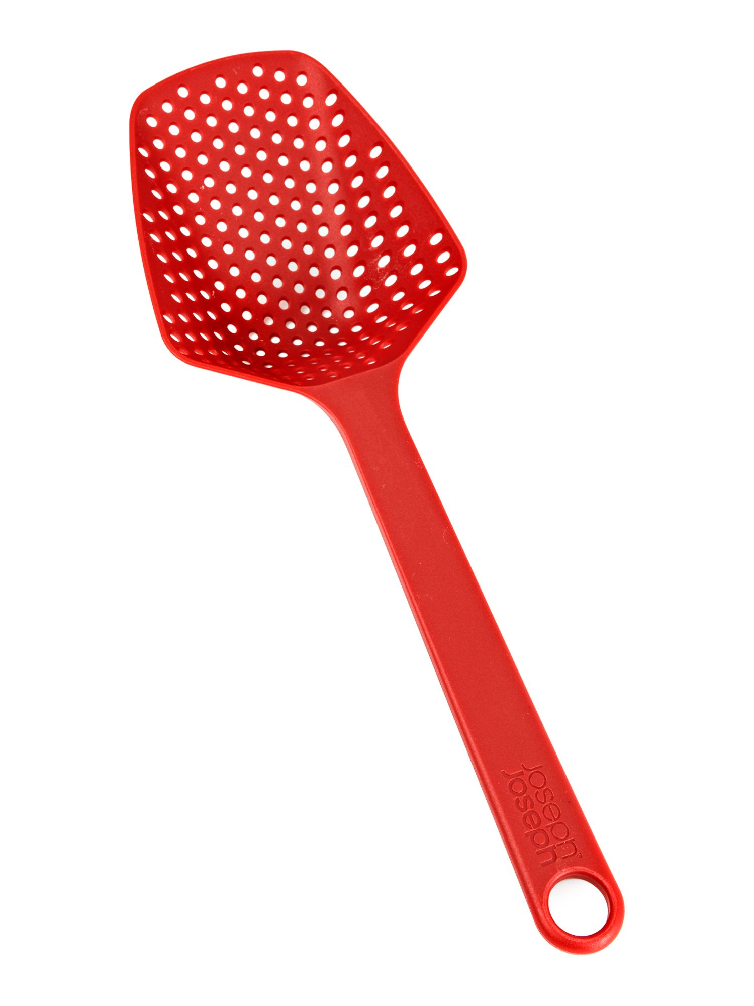 Red small scoop colander