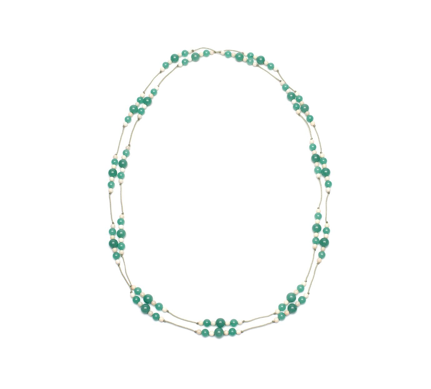 Lola Rose Aqua mix long bead rope necklace