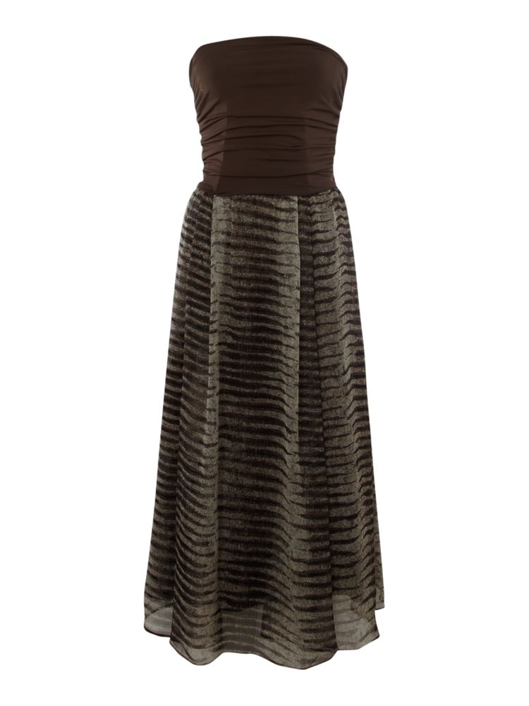 Max-Mara-Studio-Ruched-Bodice-Zebra-Print-Jersey-Dress-In-Brown