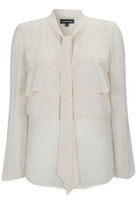 Warehouse Tiered ruffle blouse - Natural 16,16 product image