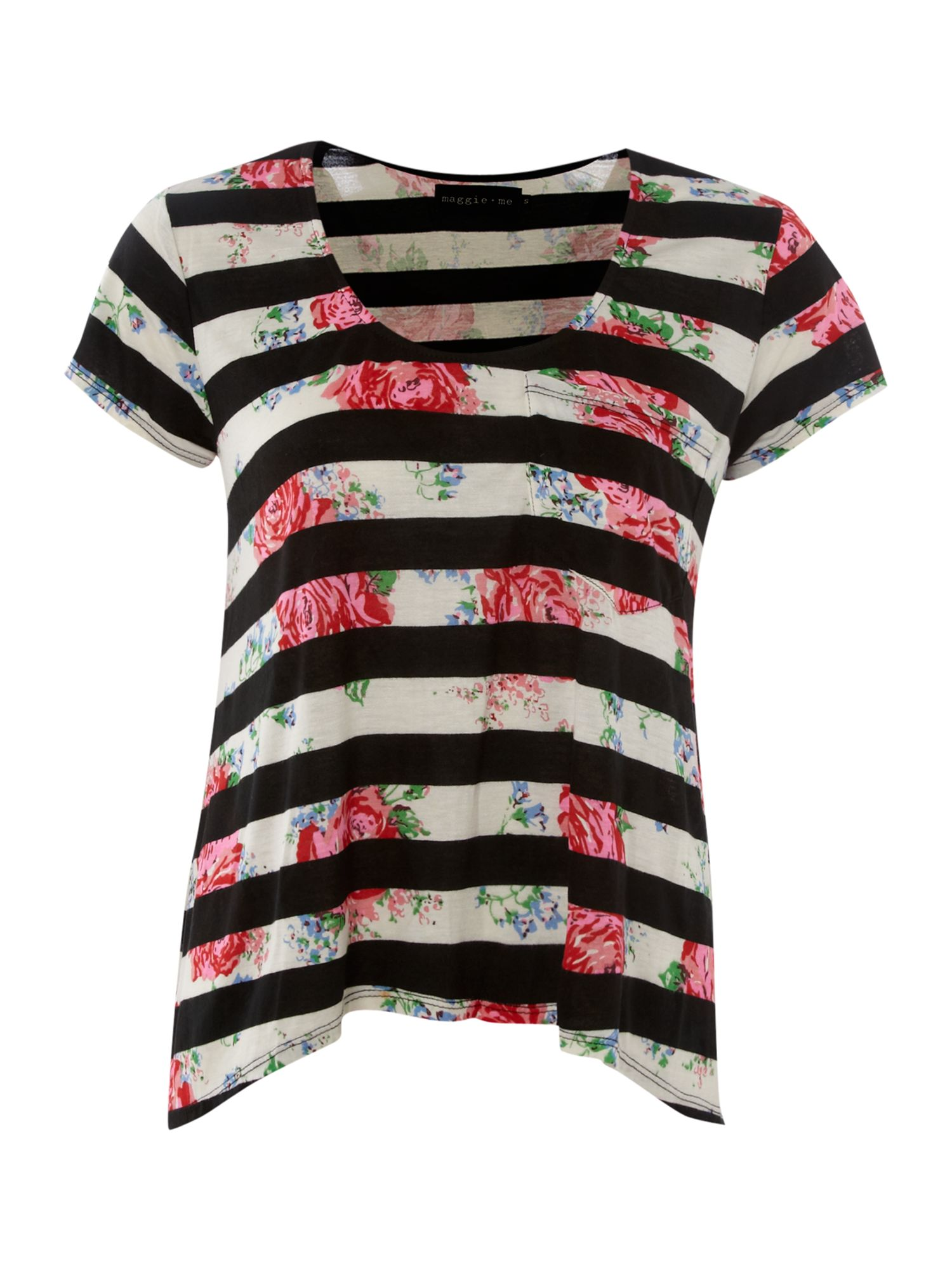 Maggie and Me Womens Maggie and Me Stripe t-shirt, Black product image