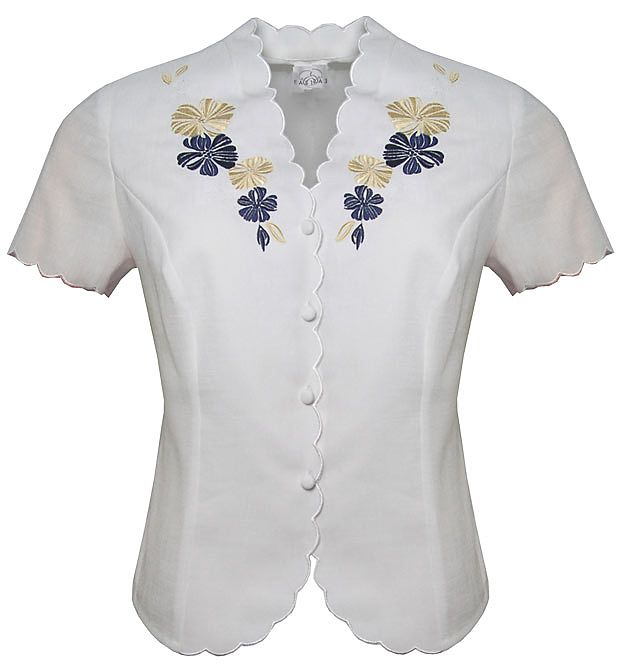 Eastex Embellished short sleeve blouse Ivory product image