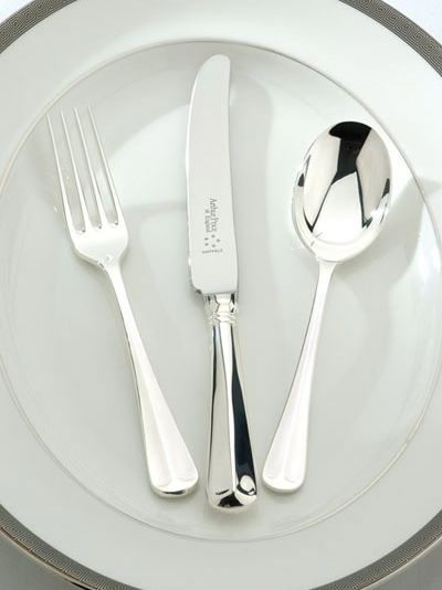 Rattail silver plated 124 piece canteen