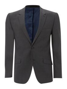 Linea Herringbone stripe suit jacket