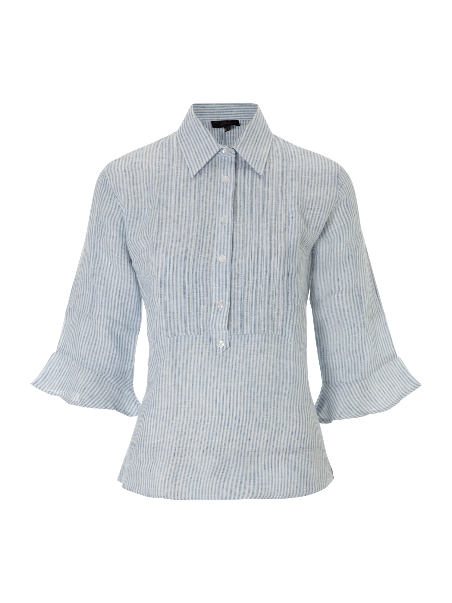 Paul Costelloe Striped linen blouse - Petrol 10,10,8,8,14,14 product image