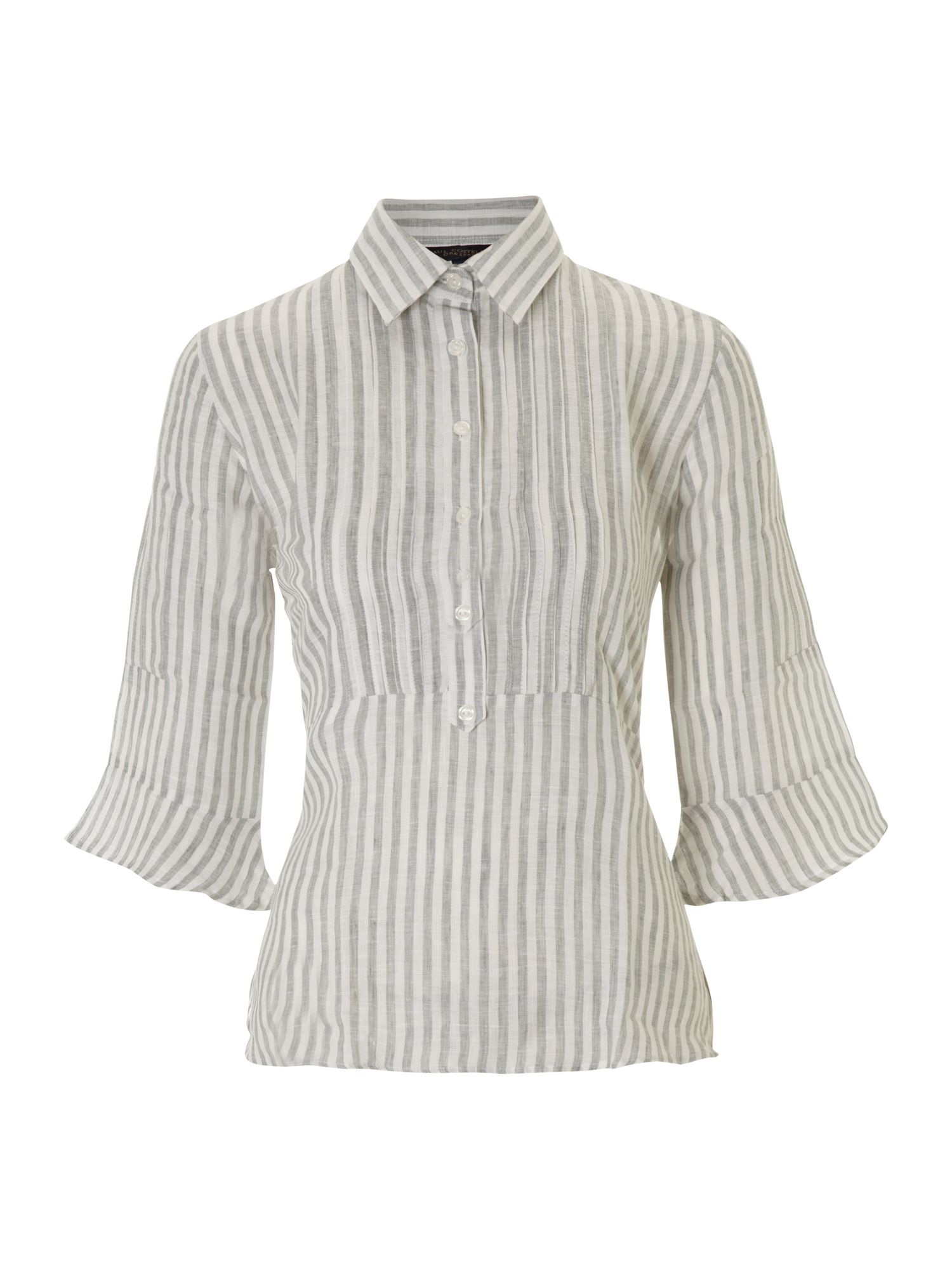 Paul Costelloe Striped linen blouse - White 12,12,8,8,10,10,14,14 product image