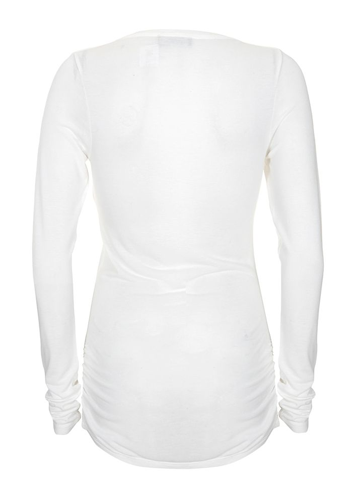 Mint Velvet Luxury long sleeve tee Ivory product image