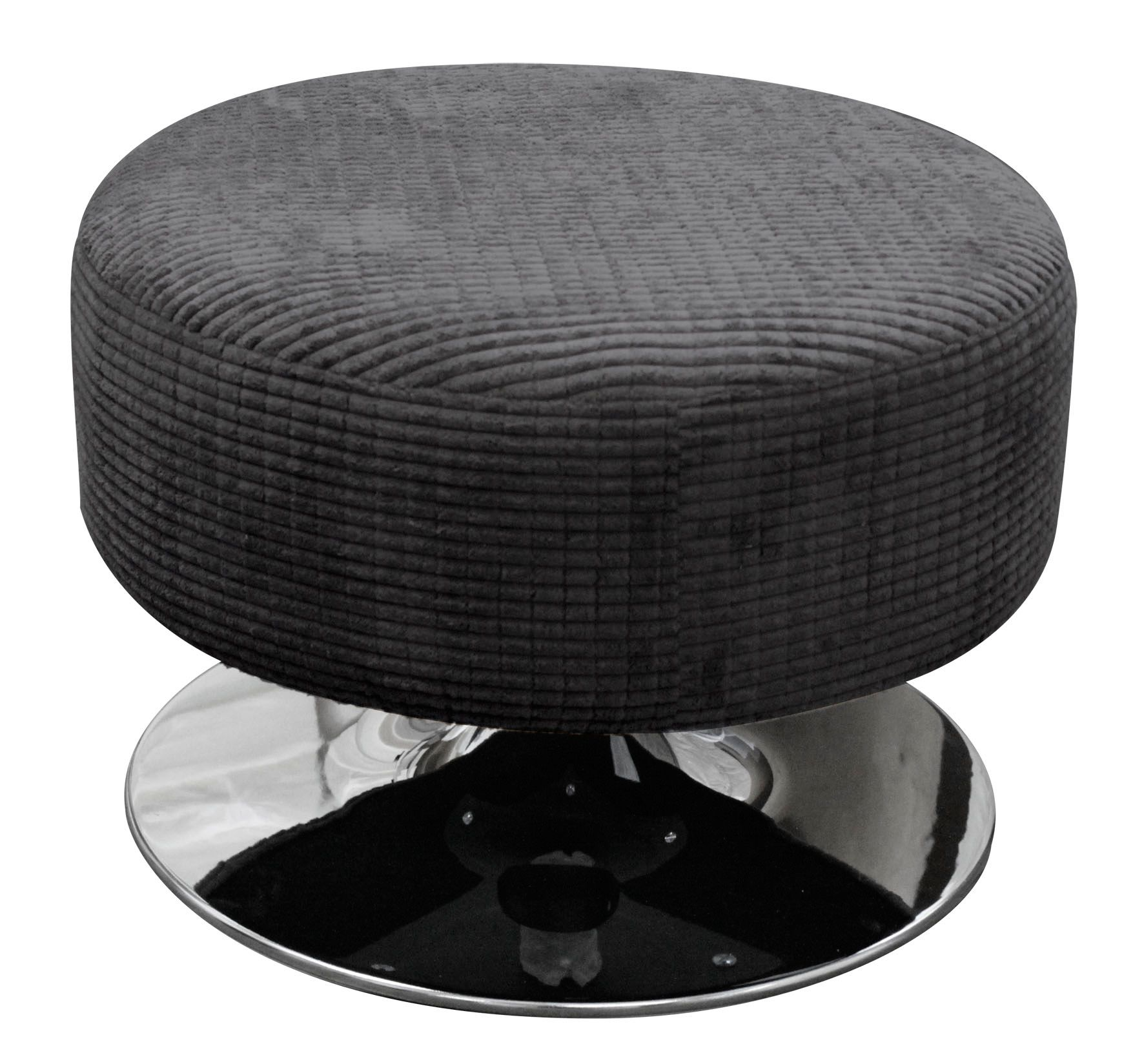 Roma swivel stool charcoal