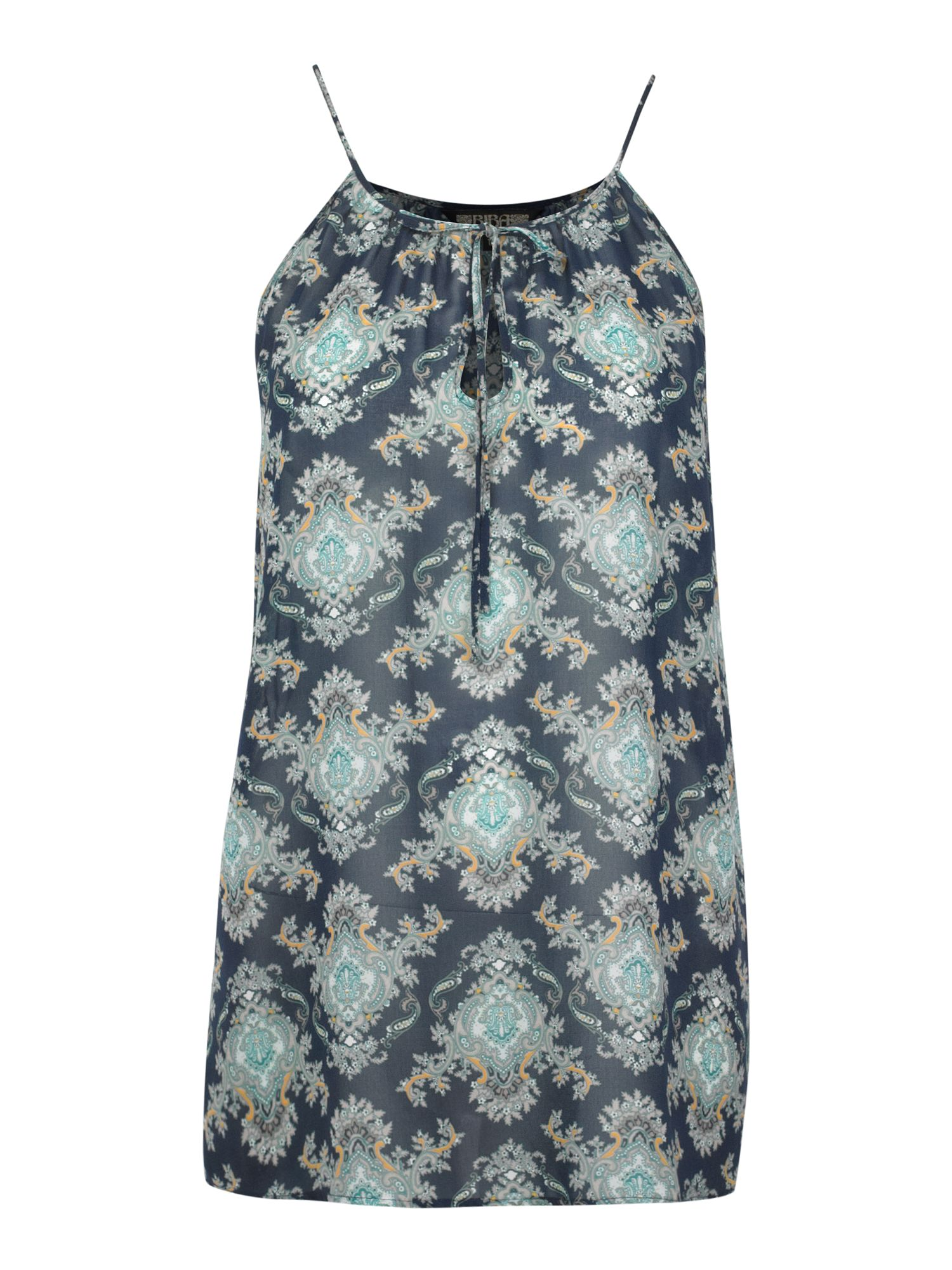 Sleeveless paisley printed blouse -