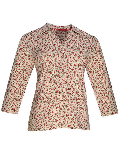 Dash Ditsy print blouse - Cream 16,16,18,18 product image