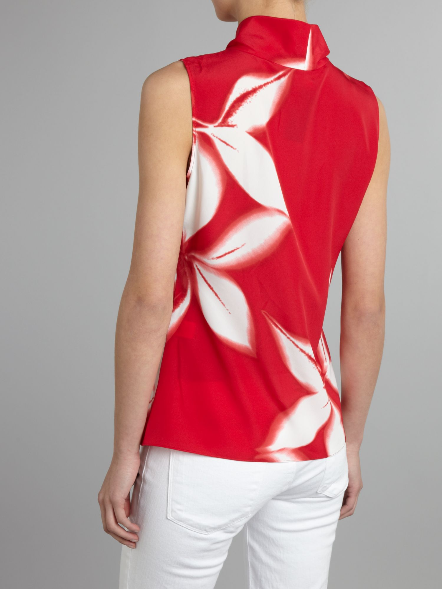 T Tahari Floral print detail ruffle blouse - Poppy S,S,S,S product image