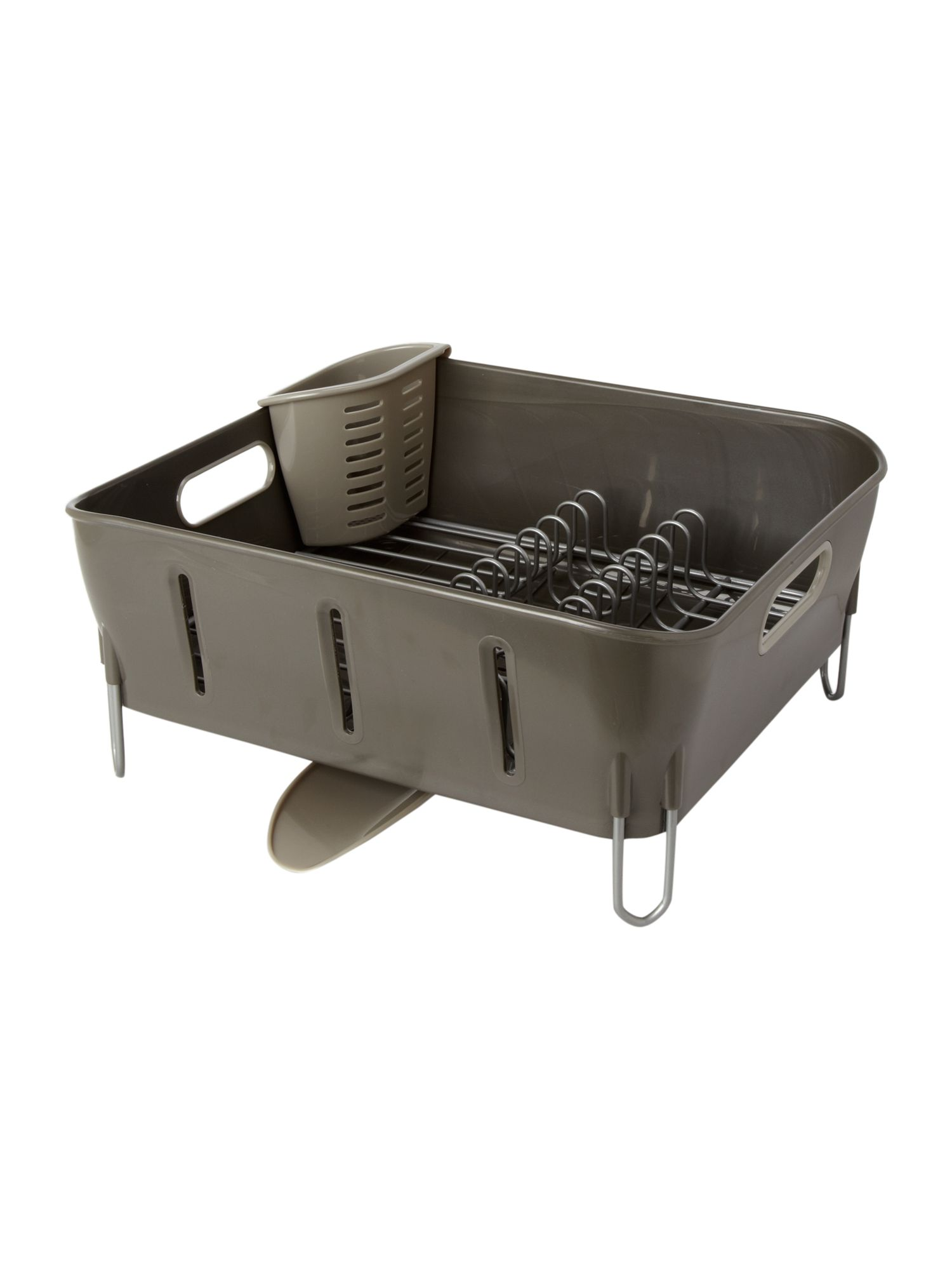 Grey plastic dishrack