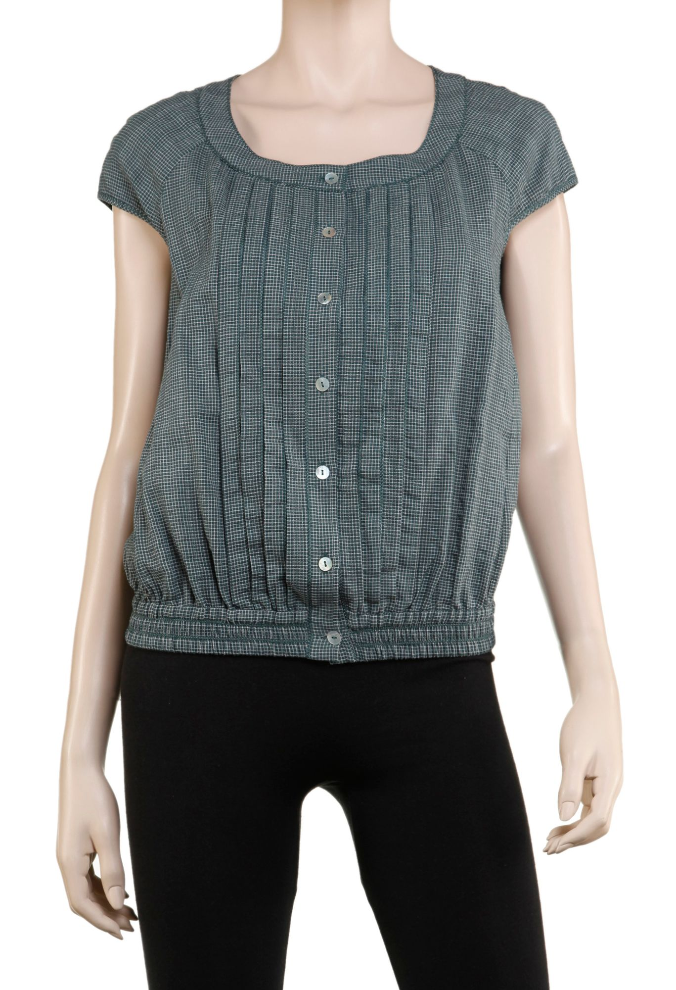 MaxStudio Checkered blouse - Marine product image
