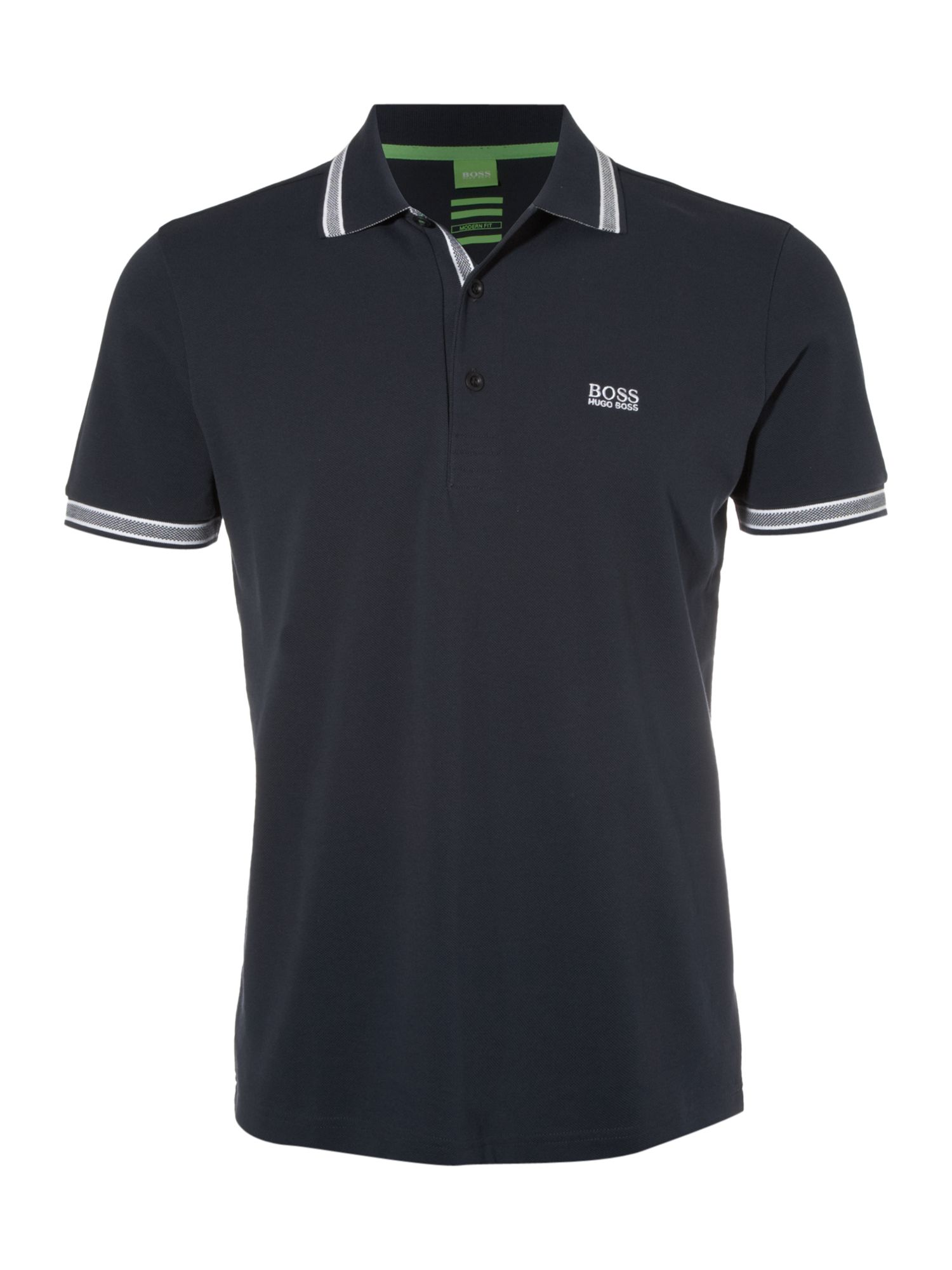 Men's Hugo Boss Paddy Regular Fit Tipped Logo Polo Shirt, Blue
