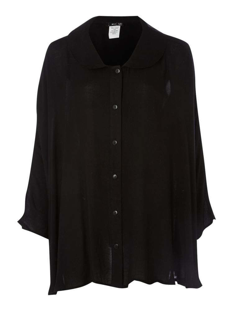 Tfnc-Oversized-Shirt-In-Black