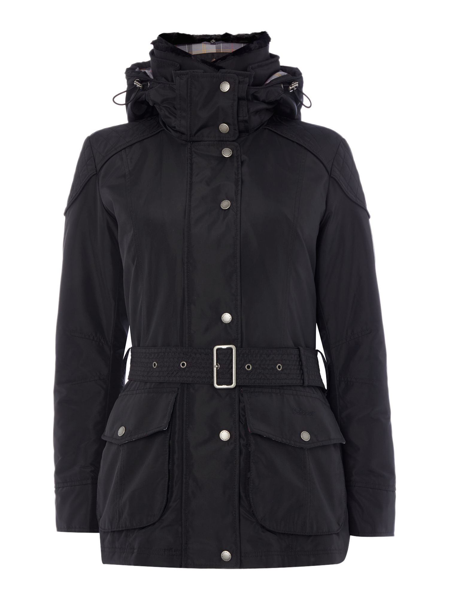 Barbour Outlaw Belted Jacket, Black