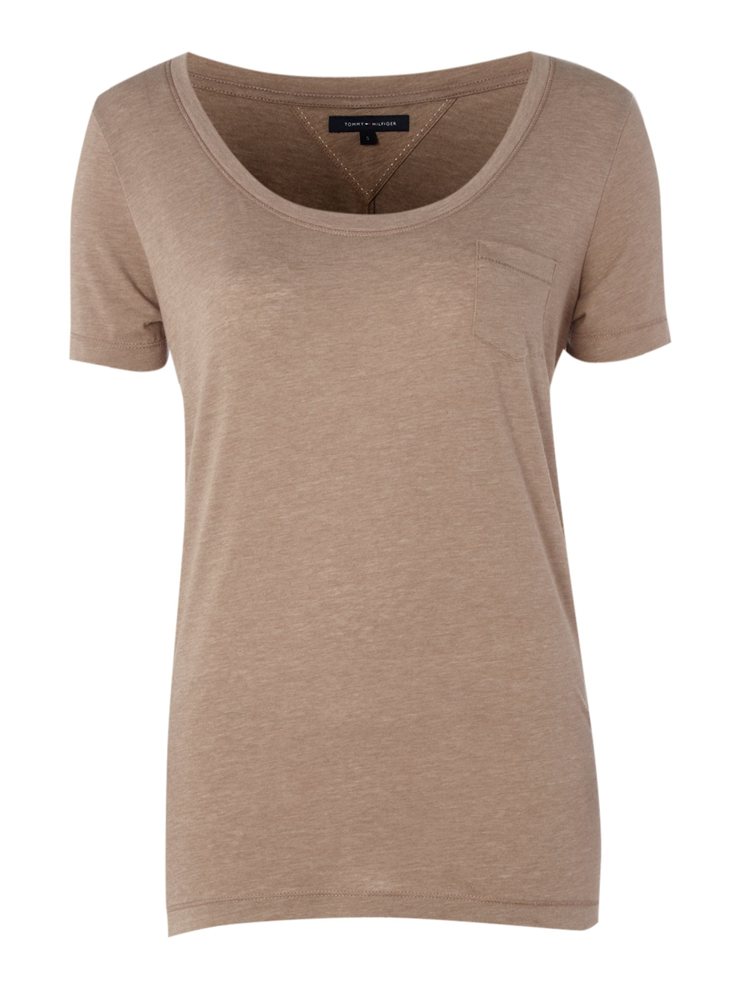 Tommy Hilfiger Luisa boyfriend t-shirt, Taupe product image