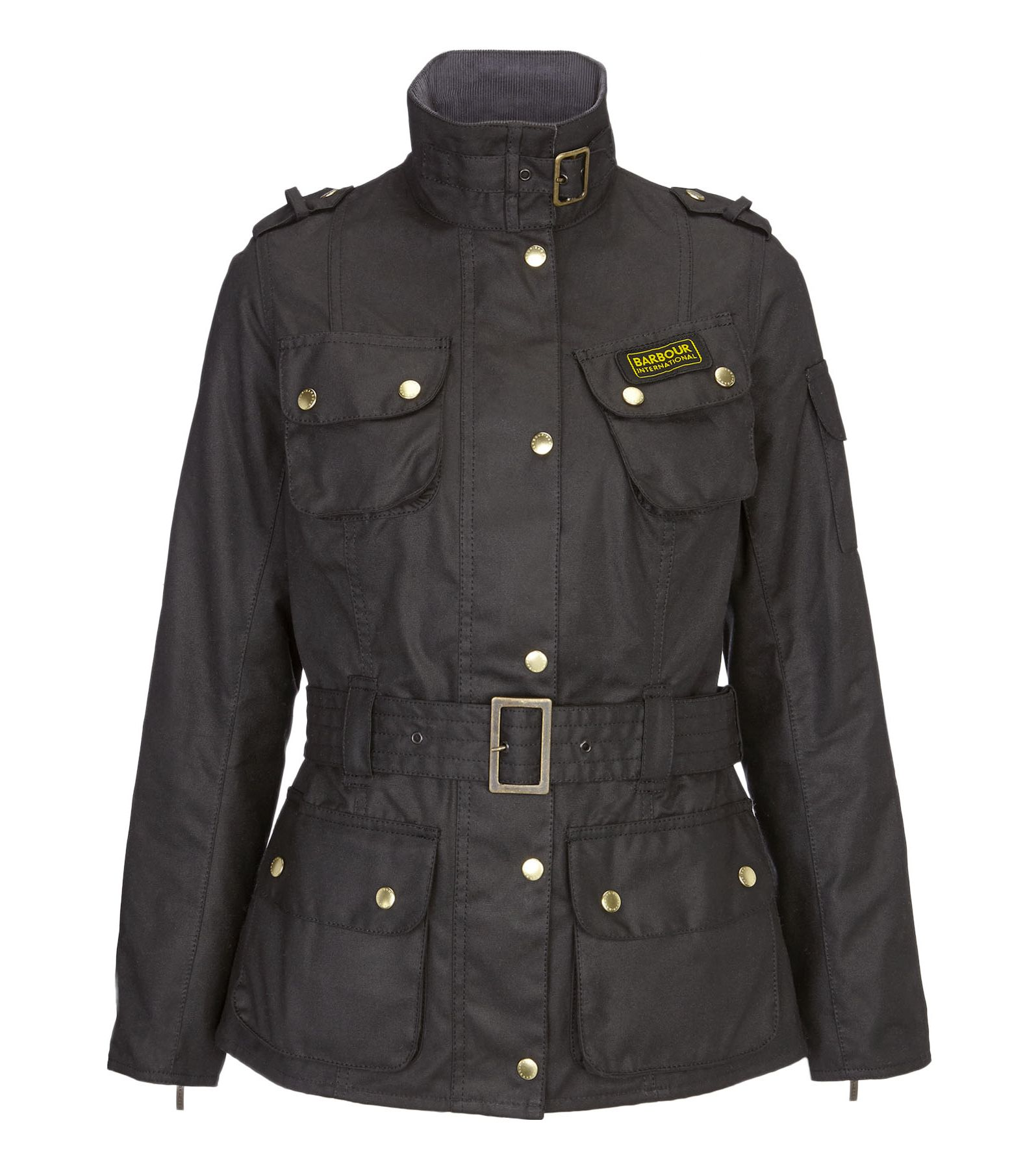 Barbour International wax jacket, Black