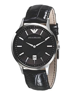 AR2411 Classic Black Leather Mens Watch