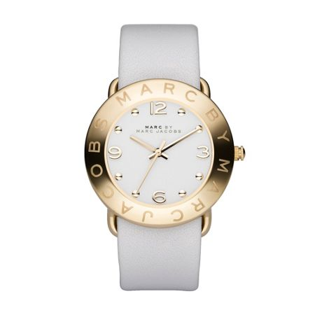 Marc Jacobs MBM1150 Amy White Leather Ladies Watch