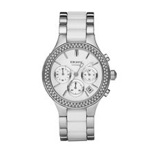 NY8181 Ceramic White Ladies Bracelet Watch
