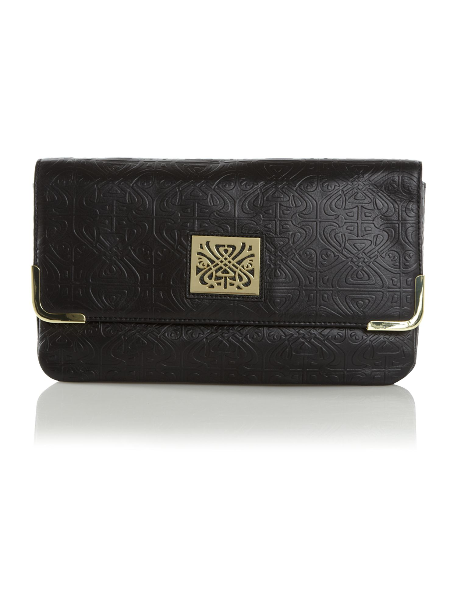 Faith embossed clutch bag