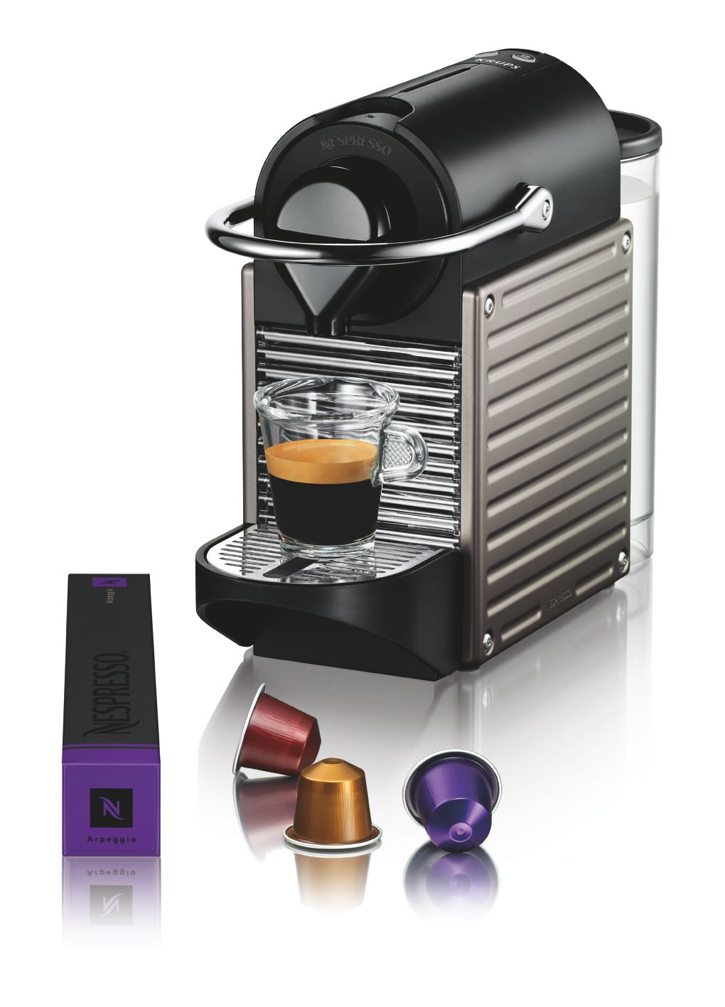 Nespresso Pixie Titanium Coffee Machine XN300540