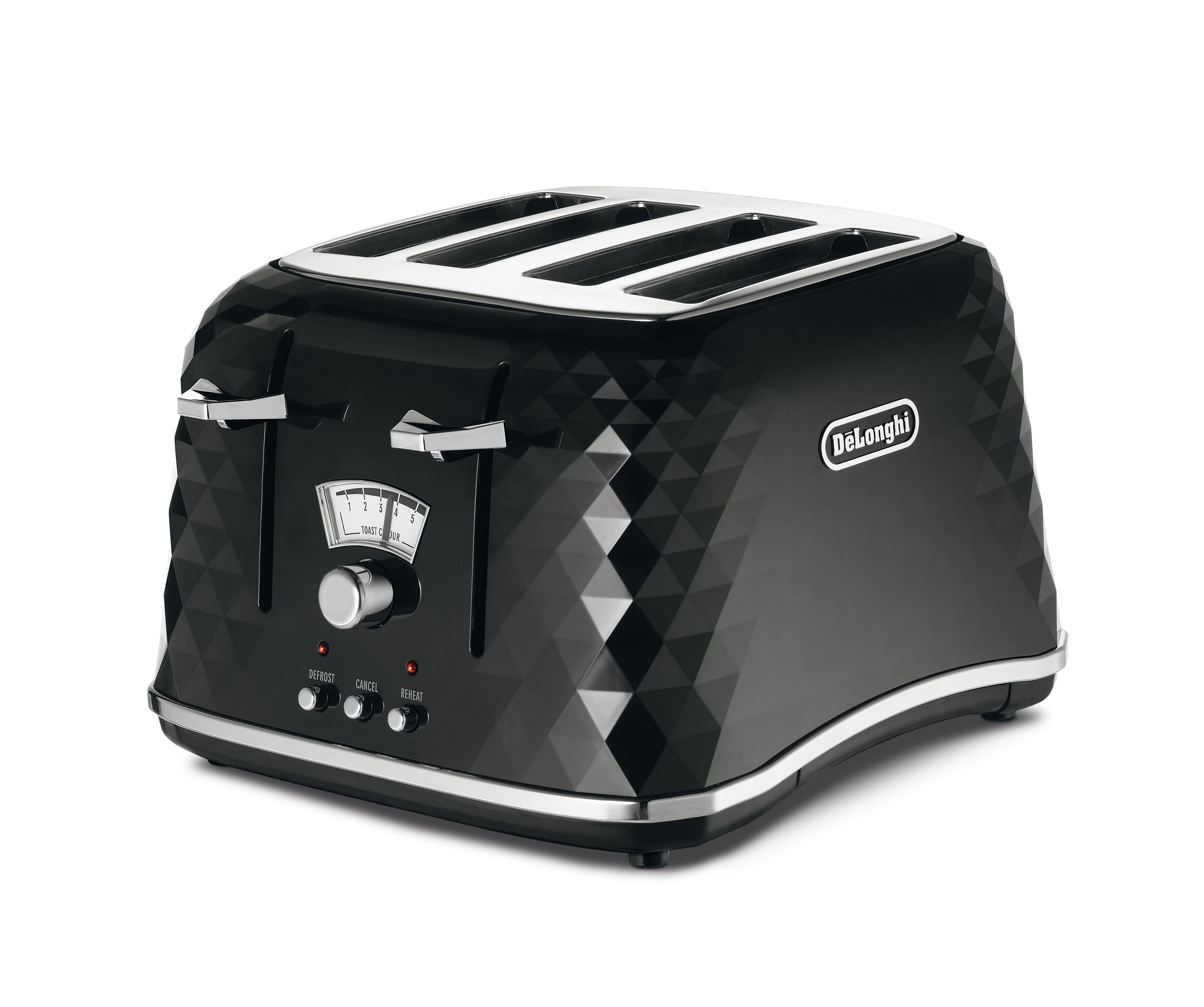Brillante Black 4-Slice Toaster CTJ4003.B
