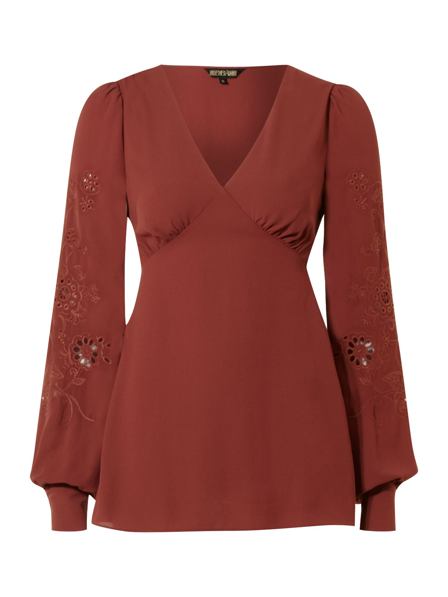 Womens Biba Cutwork bell sleeve blouse,