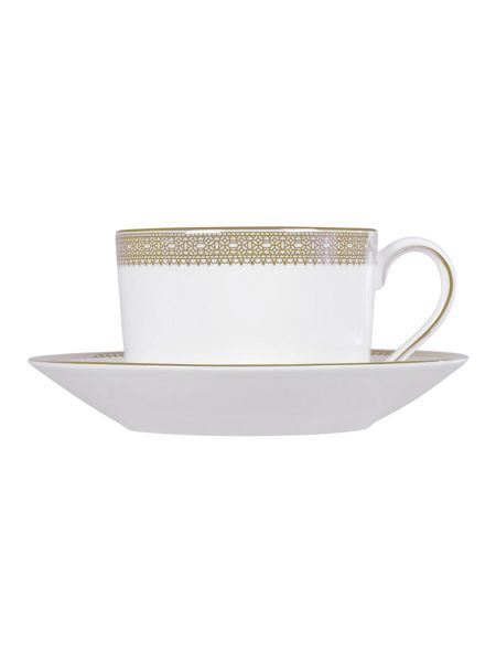 Wedgwood Vera Wang lace gold teacup