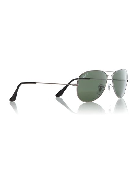 Ray-Ban Mens Gunmetal Aviator Sunglasses