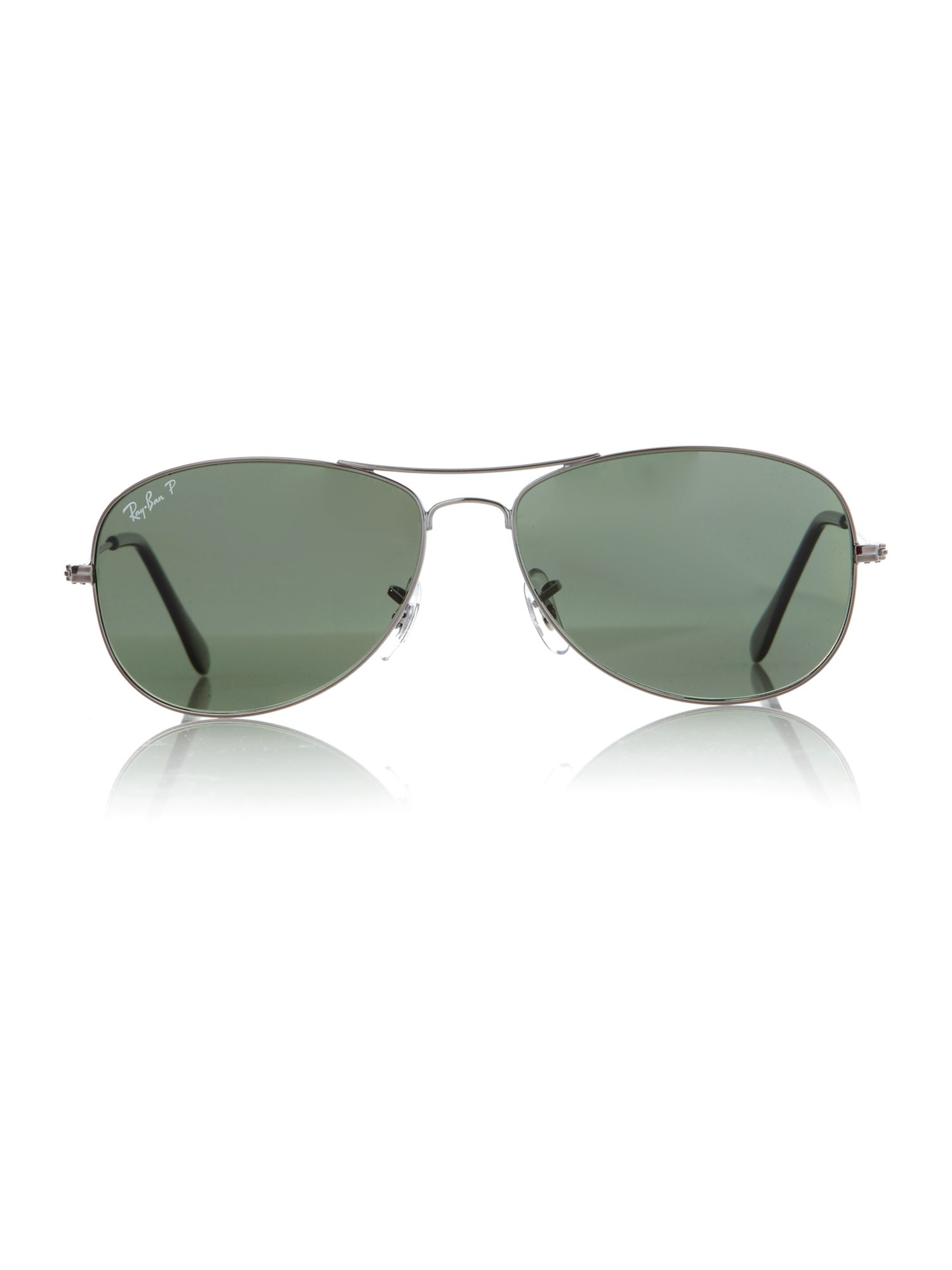 Mens Gunmetal Aviator Sunglasses