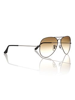 Unisex RB3025 004/51L.Metal Aviator Sunglasses
